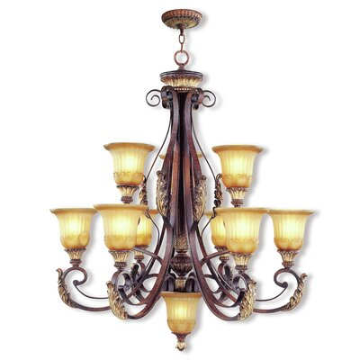 Scottdale 10-Light Shaded Chandelier