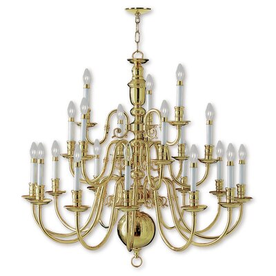 Perrone 21-Light Metal Candle-Style Chandelier