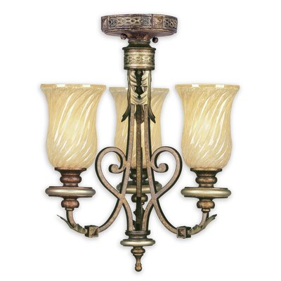 Bradner 3-Light Shaded Chandelier