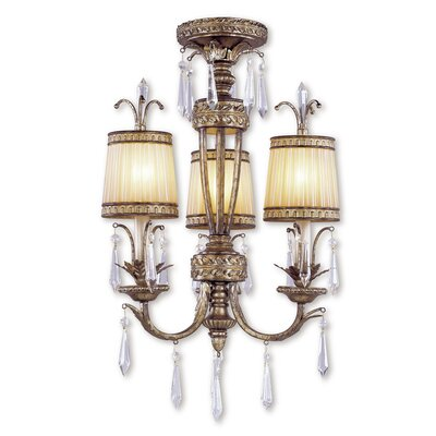 Perot 3-Light Shaded Chandelier