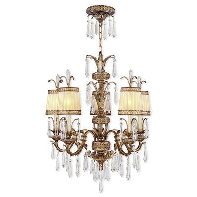 Perot 5-Light Traditional Shaded Chandelier