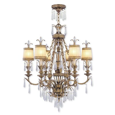 Perot 6-Light Shaded Chandelier