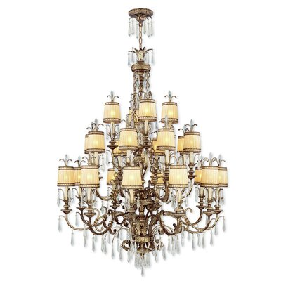 Perot 22-Light Shaded Chandelier