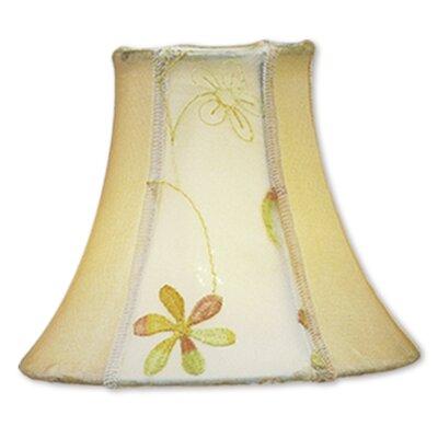 6 Floral Silk Bell Candelabra Shade