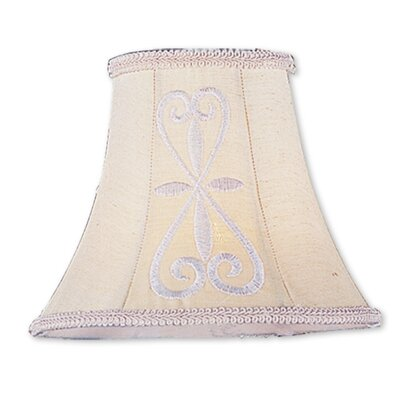Traditional 6 Silk Bell Candelabra Shade with Hand Embroidered