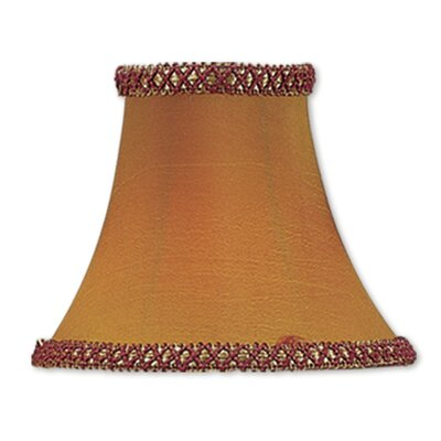 Traditional 6 Silk Bell Clip-on Candelabra Shade with Fancy Trim