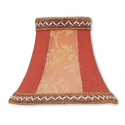 6 Silk Bell Embroidered Candelabra Shade with Fancy Trim