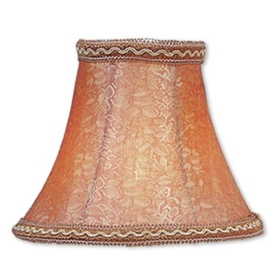 Traditional 6 Silk Bell Candelabra Shade with Fancy Trim