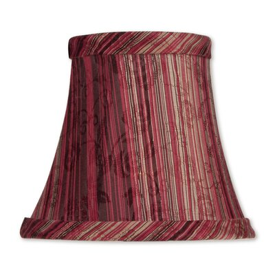 5 Striped Silk Bell Clip-on Candelabra Shade
