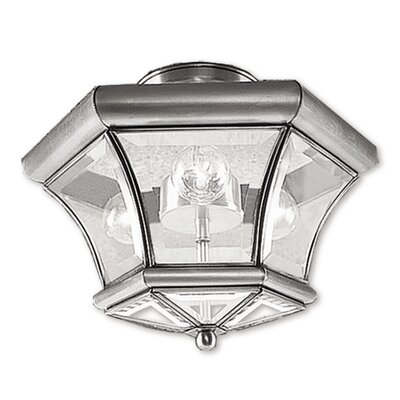 Wilcoxon Semi Flush Mount in Brushed Nickel