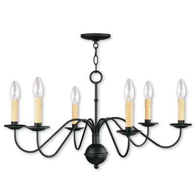 Eberhart Traditional 6-Light Candle-Style Chandelier