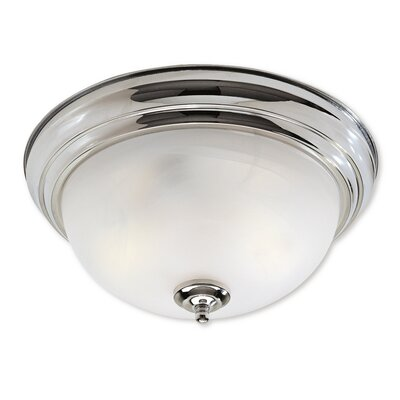 Regency 2-Light Flush Mount Size: 6 H x 13 W x 13 D, Finish: Chrome