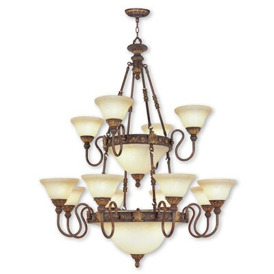Sealy 18-Light Shaded Chandelier