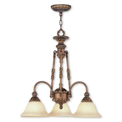 Sealy 3-Light Shaded Chandelier