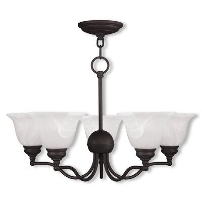 Essex 5-Light Shaded Chandelier Finish: Bronze