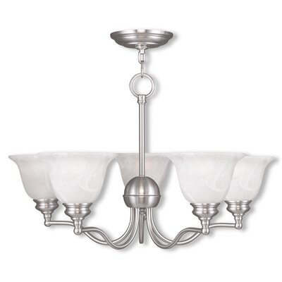 Cicco 5-Light Dome Shaded Chandelier Finish: Brushed Nickel