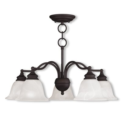 Cicco 5-Light Shaded Chandelier Finish: Bronze