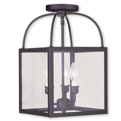 Brundidge 3-Light Convertible Semi Flush Mount