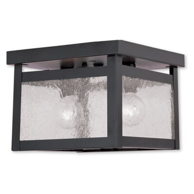 Milford 2-Light Flush Mount Finish: Bronze