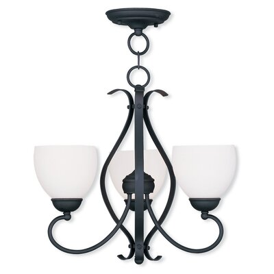 Whittaker Convertible 3-Light Shaded Chandelier Finish: Black
