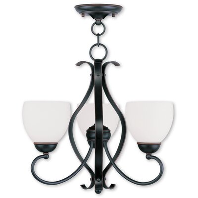 Whittaker Convertible 3-Light Shaded Chandelier Finish: Olde Bronze