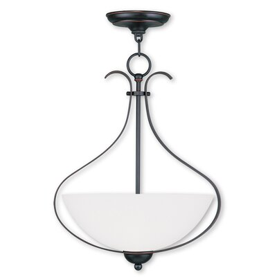 Brookside 3-Light Inverted Pendant Finish: Olde Bronze