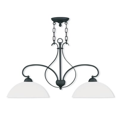 Brookside 2-Light Kitchen Pendant Lighting Finish: Black