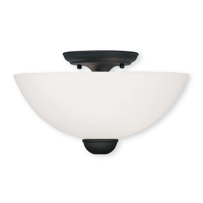 Whittaker 2-Light Semi Flush Mount Finish: Black