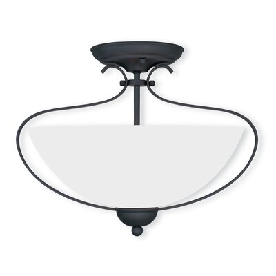 Whittaker 2-Light Flush Mount Finish: Black