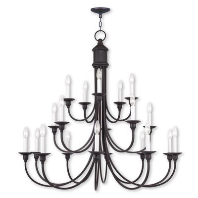 Eckard 18-Light Candle-Style Chandelier