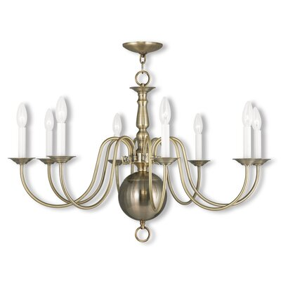 Allensby 6-Light Candle-Style Chandelier Finish: Antique Brass