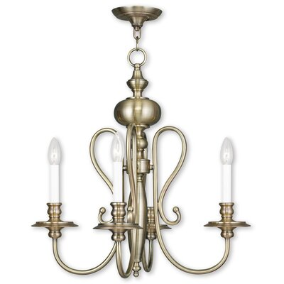 Echevarria 4-Light Candle-Style Chandelier Finish: Antique Brass