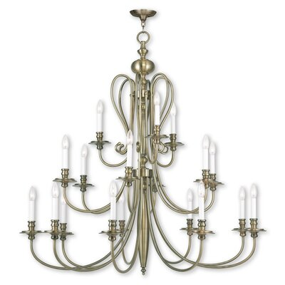 Echevarria 16-Light Candle-Style Chandelier Finish: Antique Brass
