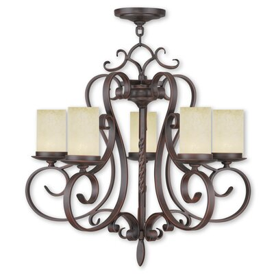 Bressler 5-Light Shaded Chandelier