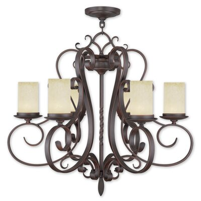Bressler 6-Light Shaded Chandelier