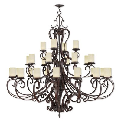 Bressler 28-Light Shaded Chandelier
