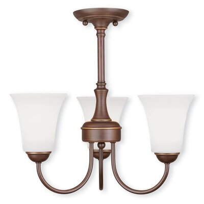 Ridgedale 3-Light Shaded Chandelier Finish: Vintage Bronze