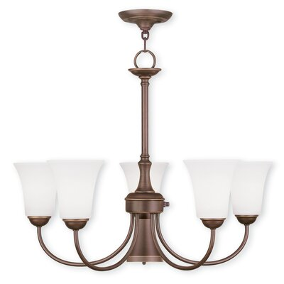 Grady Modern 5-Light Shaded Chandelier Finish: Vintage Bronze