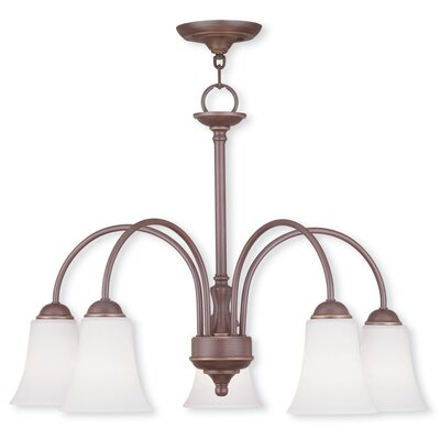 Ridgedale 5-Light Shaded Chandelier Finish: Vintage Bronze