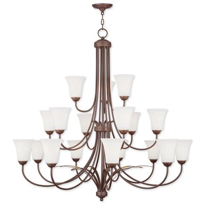 Grady 18-Light Shaded Chandelier Finish: Vintage Bronze