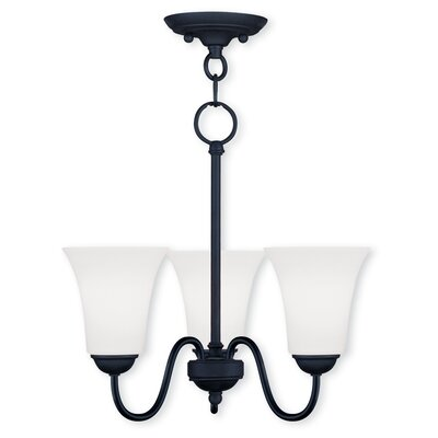 Grady Modern 3-Light Shaded Chandelier Finish: Black