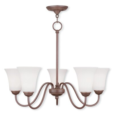 Grady 5-Light Shaded Chandelier Finish: Vintage Bronze