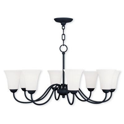 Grady 8-Light Shaded Chandelier Finish: Black