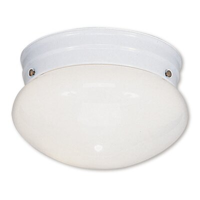 Home Basics 1-Light Flush Mount Finish: White