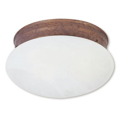 Langley 1-Light Flush Mount Finish: Weathered Brick