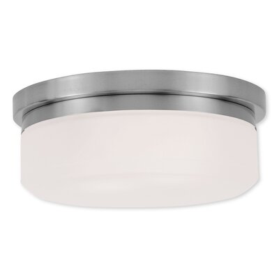 Cerie 2-Light Flush Mount Size: 4.5 H, Finish: Brushed Nickel