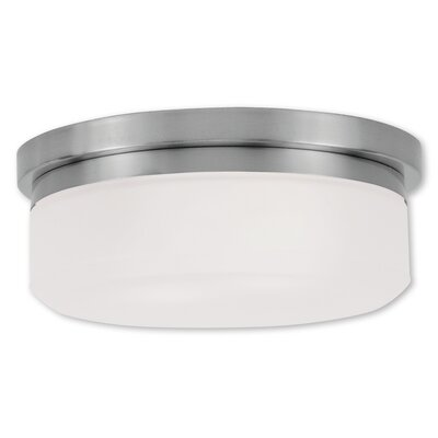 Cerie 2-Light Flush Mount Size: 4 H, Finish: Brushed Nickel