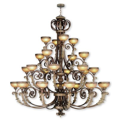 Schweizer 28-Light Shaded Chandelier