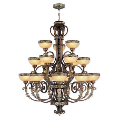 Schweizer 18-Light Shaded Chandelier