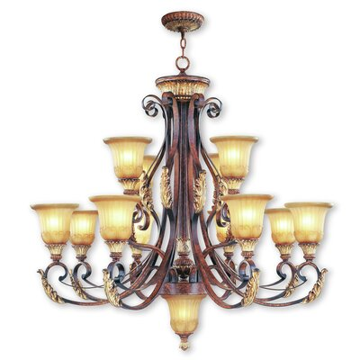 Scottdale 12-Light Shaded Chandelier